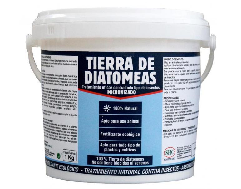 Bote de 1kg de tierra diatomeas