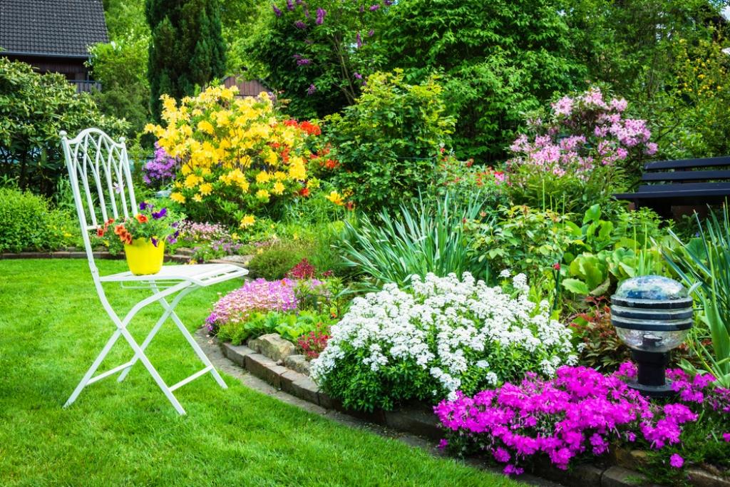 exuberante jardín