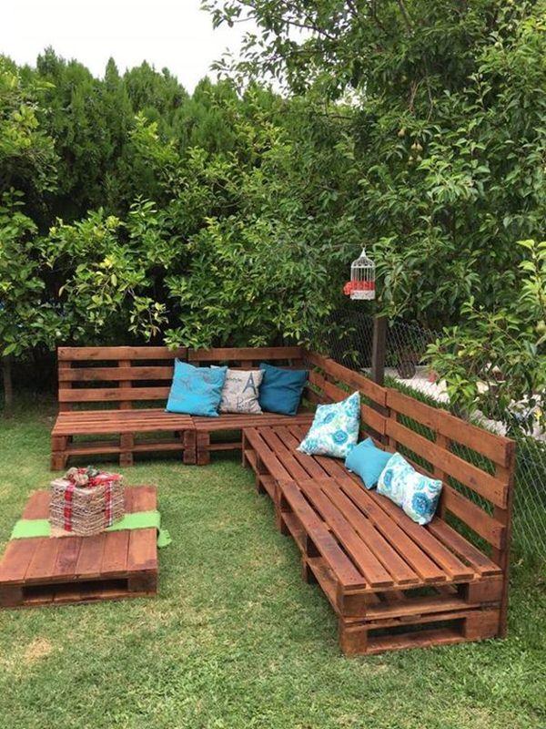 jardin exterior palets muebles