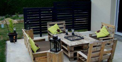 palets jardin exterior decoracion