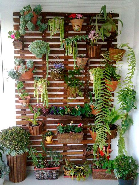 palets de madera jardin vertical